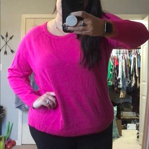 Hot Hot Pink Plus Sweater